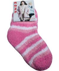 Polska AMZF ponožky dětské spací 5-6 let světle růžová