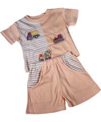 Polska Malý Princ I. - dětské letní pyžamko 6-9 měs světle oranžová
