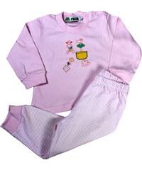 Polska Paollis dívčí pyžamko 0-1 rok světle růžová 6-9 měs