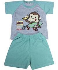 Polska Monkey chlapecké pyžamko 3-4 roky světle zelená