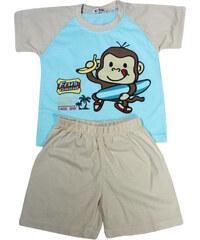 Polska Monkey chlapecké pyžamko 5-6 let světle béžová