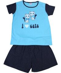 Sport Katzie - dívčí pyžamo 7-8 let modrá