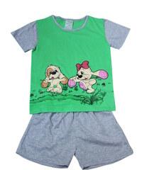 Sport Fifinka - dívčí pyžamo 5-6 let zelená