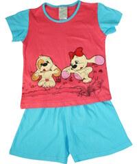Sport Fifinka - dívčí pyžamo 1-2 roky světle červená