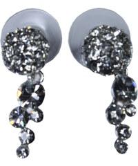 Design Brillant náušnice s kamínky stříbrná