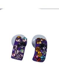 Design Tiesta náušnice s kamínky fialová