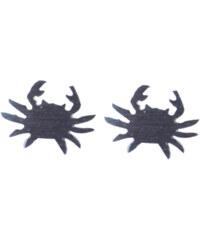 Design Krab náušnice stříbrná