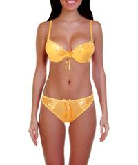 HD Fashion Sesy komplet - podprsenka + tanga 75B světle oranžová