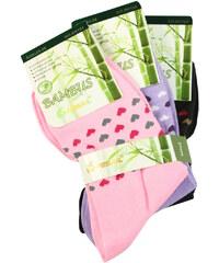 Pesail Dámské ponožky se srdíčky- 3pack 35-38 MIX