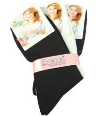 Pesail Dámské jednobarevné ponožky - 3pack 35-38 MIX