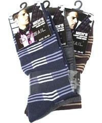Pesail Klasické ponožky s pruhy - trojbal 39-42 MIX