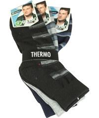 Pesail Thermo pánské ponožky - trojbal 40-44 MIX