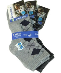 Pesail Nízké thermo ponožky - 3pack 40-44 MIX