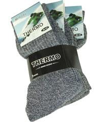 Pesail Pánské thermo ponožky - 3pack 40-43 šedá