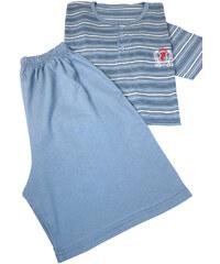 Dalmina Ruben pánské pruhované pyžamo L modrá