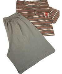 Dalmina Ruben pánské pruhované pyžamo L tmavě šedá