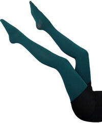 Ellasun Fanny punčochy - 150 den XL tmavě zelená