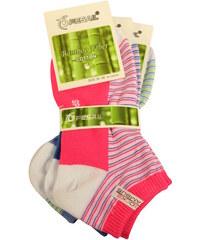 Pesail Dámské kotníčkové ponožky 3 páry 35-38 MIX