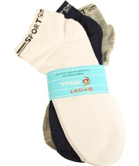 Pesail Nízké sportovní ponožky pro muže 3 páry 40-43 MIX