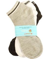 Pesail Pánské kotníčkové ponožky 3 páry 40-43 MIX