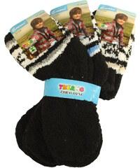 Pesail Dětské chlupaté ponožky 3 páry 27-30 MIX