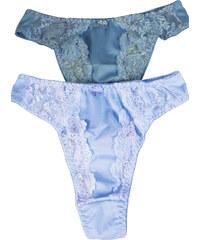 Rita Adria tanga klasického střihu- 2ks L modrá