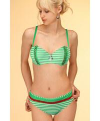 Sun Beach Yacht Club Swimwear vyztužené plavky L zelená