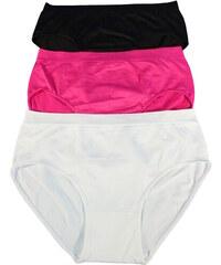 HD Fashion Bunny bezešvé kalhotky plné tvary 2ks 3XL MIX