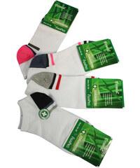 Pesail Bamboo W kotníkové zdravotní ponožky 3ks 35-38 bílá