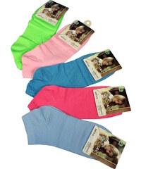 Pesail Neon kotníčkové ponožky - 3 páry 35-38 MIX