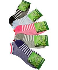 Pesail Nízké bambusové ponožky - 3páry 35-38 MIX