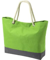 Prostorná taška s dekorativním uchem - Zelená univerzal