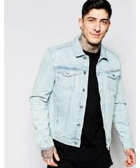 Minimum - Veste en jean à délavage très clair - Bleu