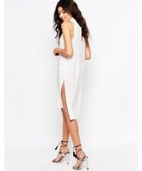 Never Fully Dressed - Robe droite à col bénitier avec découpes au dos - Blanc