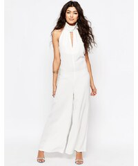 Never Fully Dressed - Combinaison dos nu avec découpes fantaisie - Blanc