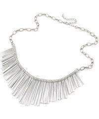 Lesara Statement-Halskette mit Stäbchen - Silber