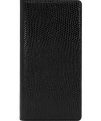 The Kase Galaxy S7 Edge - Coque à clapet en cuir - noir