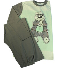 Sport Cool Bear bavlněné pyžamo XL světle zelená