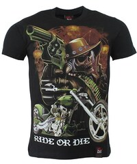 BLACK HEAVEN tričko pánské oboustranný potisk RIDE OR DIE
