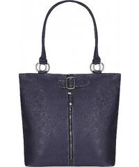 ESTELLE Shopper kabelka z buvolí kůže 1026-13 modrá