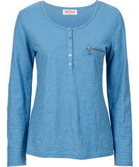 John Baner JEANSWEAR T-shirt manches longues bleu femme - bonprix