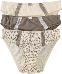 bpc bonprix collection Lot de 3 slips marron lingerie - bonprix