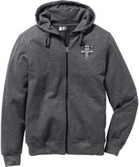 RAINBOW Gilet sweatshirt Slim Fit gris manches longues homme - bonprix