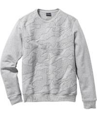 RAINBOW Sweatshirt Slim Fit gris manches longues homme - bonprix
