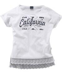 ARIZONA T Shirt mit Spitzensaum für Mädchen