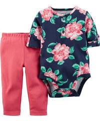 Carter's Dívčí kojenecký set s květinami - barevný