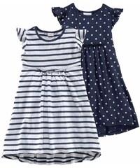 KIDOKI Jerseykleid mit Punkten und Streifen 2 Stück für Mädchen