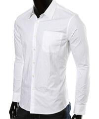 Maritimi Hemd mit Brusttasche - Weiß - S