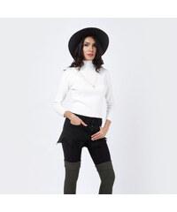 Lesara Feinstrick-Pullover mit Stehkragen - Weiß - S