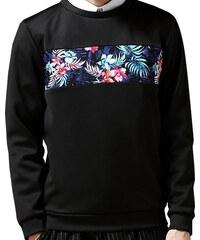 Re-Verse Sweater mit Blumen-Print-Einsatz - Schwarz - S